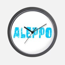 Aleppo Faded (Blue) Wall Clock