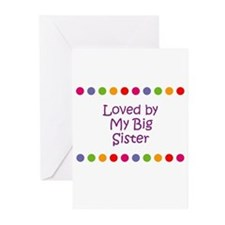 Loved by My Big Sister Greeting Cards (Pk of 10)