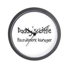 Daddy's Little Recruitment Manager Wall Clock