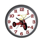 Red Tricycle Wall Clock