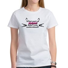 What part of meow? Tee