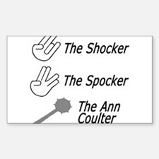 the shocker, the spocker, the Rectangle Decal