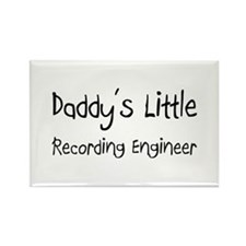 Daddy's Little Recording Engineer Rectangle Magnet
