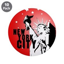 """New York City 3.5"""" Button (10 pack)"""