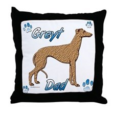 Greyt red brindle Throw Pillow