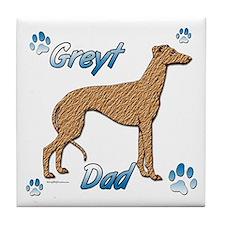 Greyt red brindle Tile Coaster