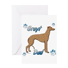 Greyt red brindle Greeting Card