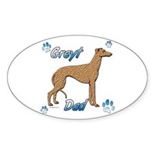 Greyt red brindle Oval Decal