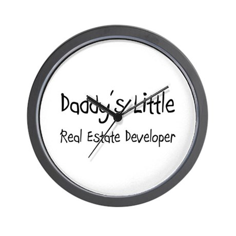 Daddy's Little Real Estate Developer Wall Clock