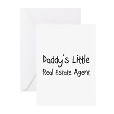 Daddy's Little Real Estate Agent Greeting Cards (P