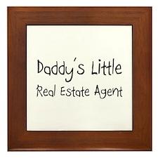 Daddy's Little Real Estate Agent Framed Tile