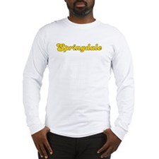 Retro Springdale (Gold) Long Sleeve T-Shirt