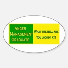 Anger Management Funny Oval Decal