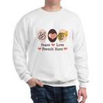 Peace Love French Horn Sweatshirt