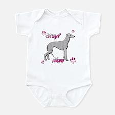 Greyt mom blue Infant Bodysuit