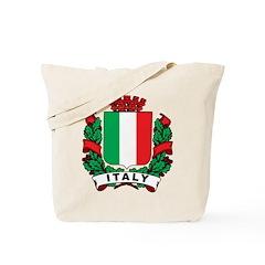 Stylish Italy Crest Tote Bag