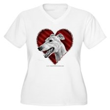 Greyhound Valentine T-Shirt