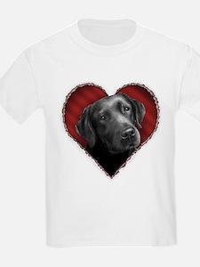 Labrador Retriever Valentine T-Shirt