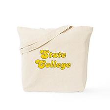 Retro State College (Gold) Tote Bag