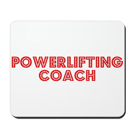 Retro Powerliftin.. (Red) Mousepad