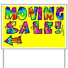 Moving Sale Yard Sign (Left Arrow)