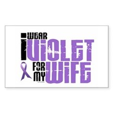 I Wear Violet For My Wife 6 Rectangle Decal