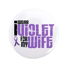 "I Wear Violet For My Wife 6 3.5"" Button (100 pack)"