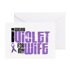 I Wear Violet For My Wife 6 Greeting Card