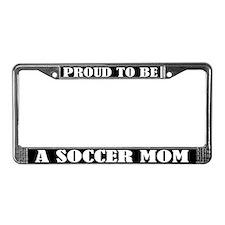 Proud Soccer Mom License Plate Frame