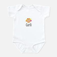 Carli - Flower Girl Head Infant Bodysuit
