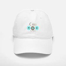 Carli - Blue/Brown Flowers Baseball Baseball Cap