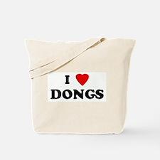 I Love DONGS Tote Bag