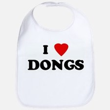 I Love DONGS Bib