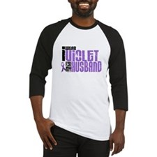 I Wear Violet For My Husband 6 Baseball Jersey