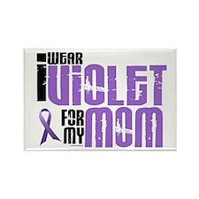 I Wear Violet For My Mom 6 Rectangle Magnet (10 pa