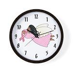 AA Pink Ribbon Angel Wall Clock
