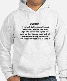WANTED: A Good Woman Hoodie