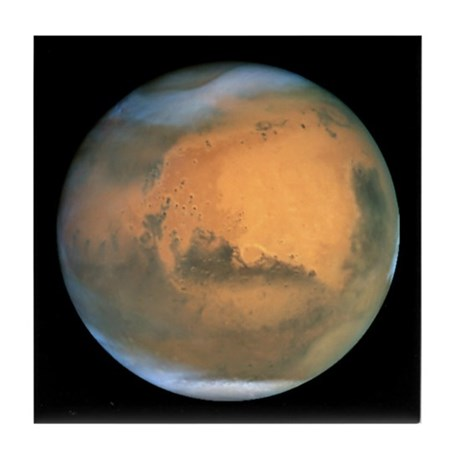 Mars image Tile Coaster