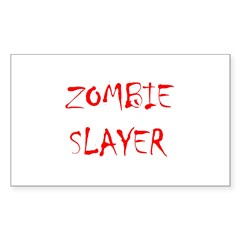 zombie slayer Rectangle Decal
