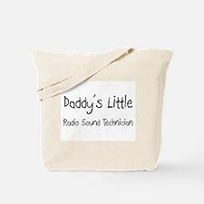 Daddy's Little Radio Sound Technician Tote Bag