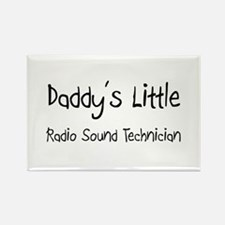 Daddy's Little Radio Sound Technician Rectangle Ma