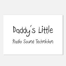 Daddy's Little Radio Sound Technician Postcards (P