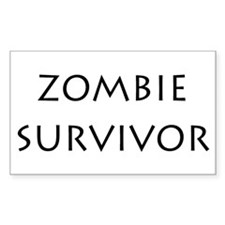 zombie survivor Rectangle Decal