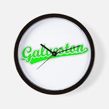 Retro Galveston (Green) Wall Clock