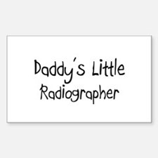 Daddy's Little Radiographer Rectangle Decal