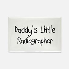 Daddy's Little Radiographer Rectangle Magnet (10 p