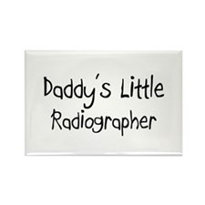 Daddy's Little Radiographer Rectangle Magnet