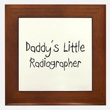 Daddy's Little Radiographer Framed Tile
