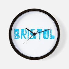Bristol Faded (Blue) Wall Clock