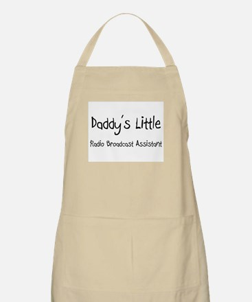 Daddy's Little Radio Broadcast Assistant BBQ Apron
